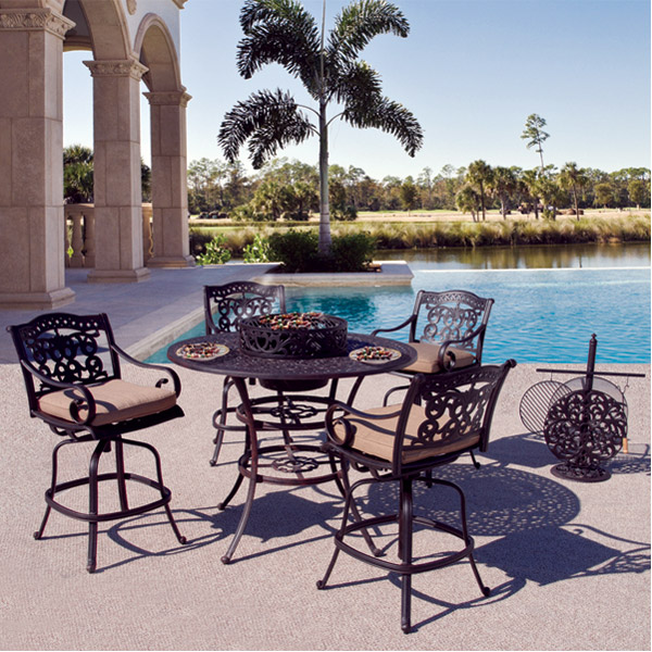 fiesta outdoor patio bar height set fiesta 7 piece bar