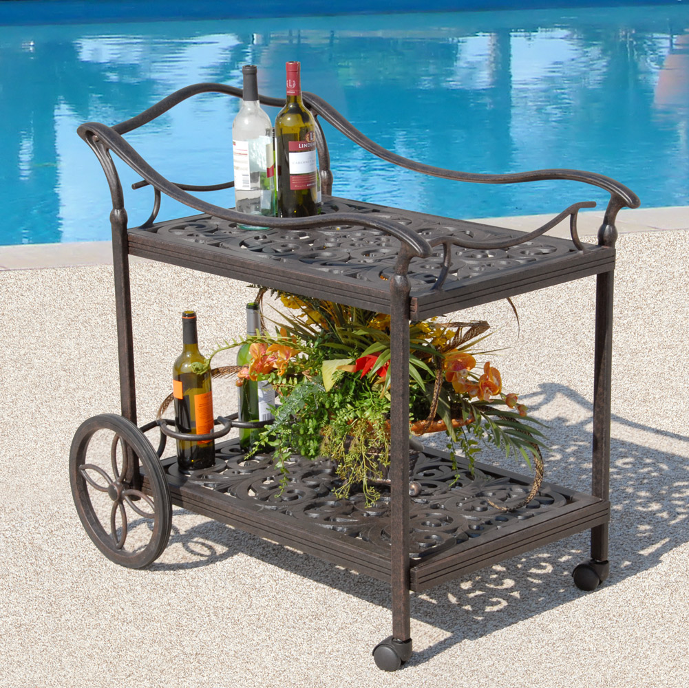 outdoor patio beverage cart tubs and pool