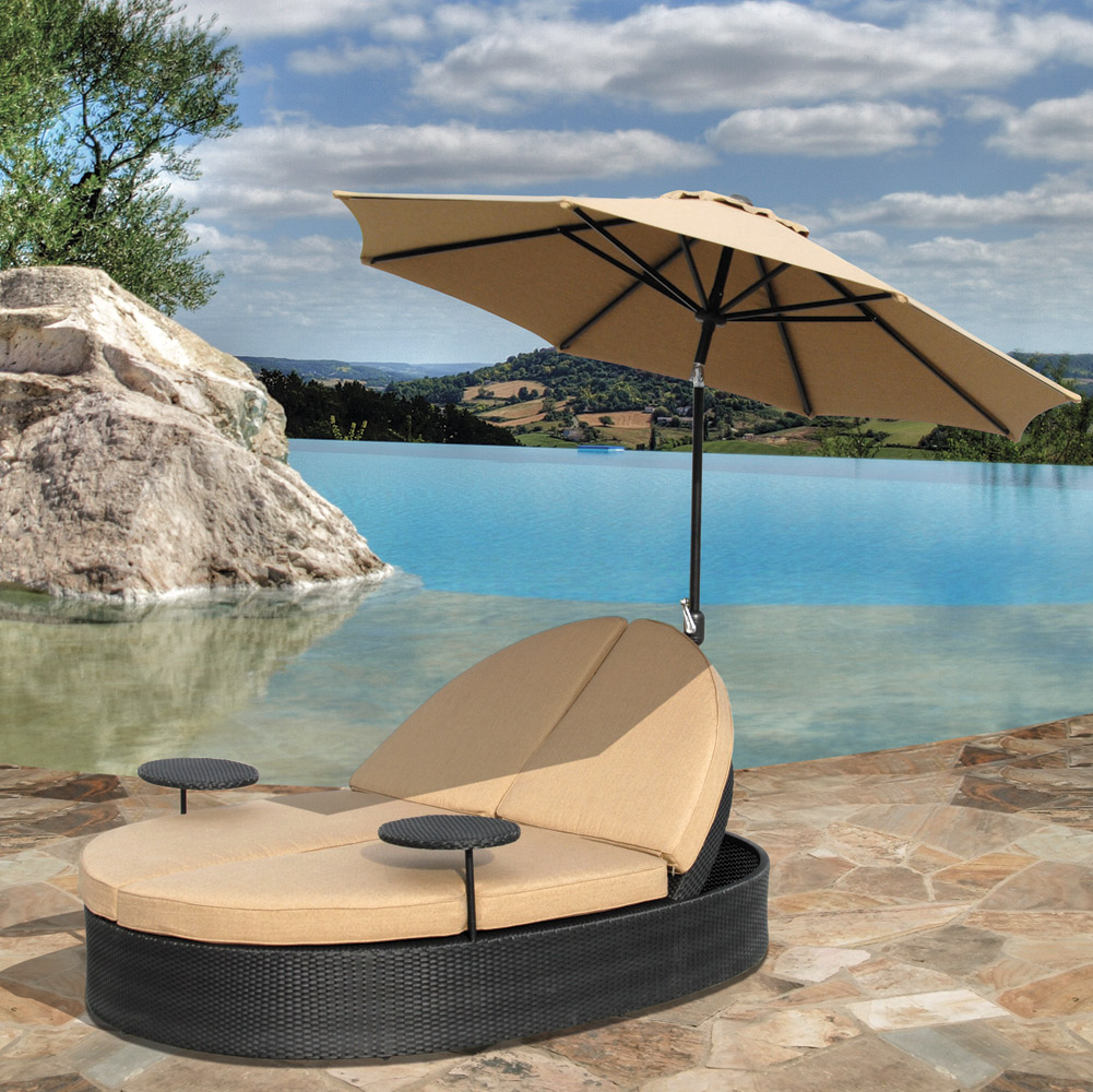 Solara Outdoor Patio Double Chaise Lounge Hot Tubs And
