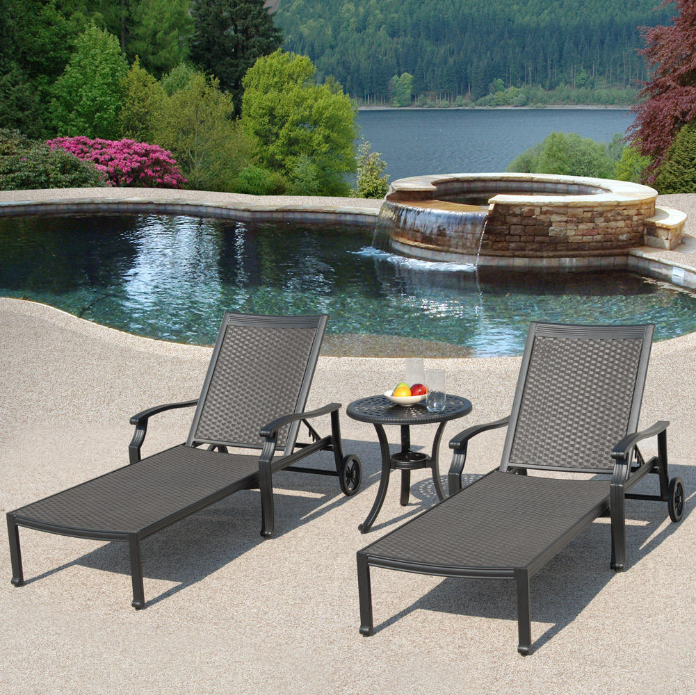 Laguna Outdoor Patio Chaise Lounge Set